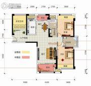 凯旋名门3室2厅2卫122平方米户型图