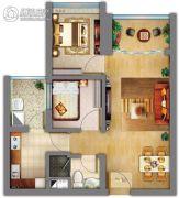 祈福缤纷汇2室2厅1卫52平方米户型图
