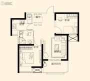 星颐广场2室2厅1卫78平方米户型图