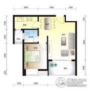 碧海蒙苑1室2厅1卫57平方米户型图