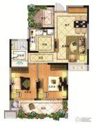 亚东观樾2室2厅1卫91平方米户型图