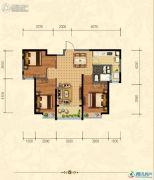 沧州恒大城3室2厅2卫107平方米户型图