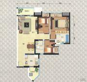 岭南新世界3室2厅2卫94平方米户型图
