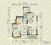 兴茂盛世国际3室0厅2卫97平方米户型图