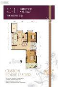 万豪世纪天街2室2厅1卫90平方米户型图