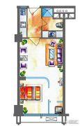 玉桥国际公寓1室1厅1卫0平方米户型图