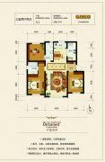 银河太阳城四期3室2厅2卫108平方米户型图