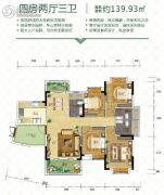 金时花园4室2厅3卫139平方米户型图