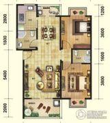 芭提雅火山岩温泉小镇2室2厅2卫92平方米户型图