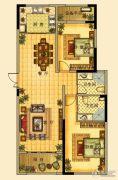 海星御和园2室2厅2卫121平方米户型图