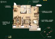 无锡孔雀城3室2厅1卫98平方米户型图