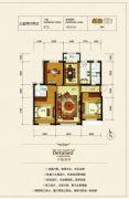 银河太阳城四期3室2厅2卫115平方米户型图