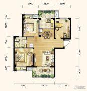 明发城市广场3室2厅1卫95平方米户型图