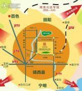 古鼎香(靖西)农批大市场交通图