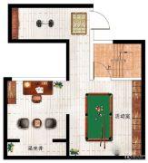 民安北郡1室1厅1卫60平方米户型图