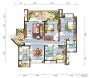 新鸿基悦城3室2厅2卫152平方米户型图