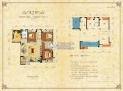 财富立方3室2厅2卫129平方米户型图