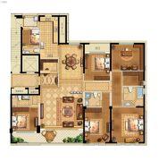 江湾城二期5室2厅4卫255平方米户型图