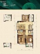 融信江南学府3室2厅2卫0平方米户型图