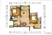 重庆巴南万达广场2室2厅1卫90平方米户型图