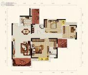 天成郦湖国际社区3室2厅2卫126平方米户型图