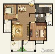 正诚阳光花墅2室2厅2卫102平方米户型图