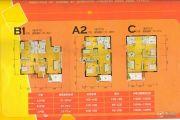 阜阳幸福家园3室2厅1卫87--89平方米户型图