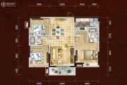 四川煤田光华之心3室2厅2卫119平方米户型图