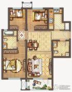 保利中央公园3室2厅2卫107平方米户型图