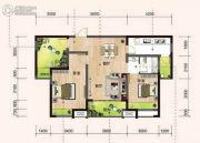 长沙明发国际城3室2厅2卫92平方米户型图
