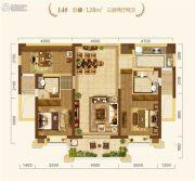 中建・宜昌之星3室2厅2卫128平方米户型图