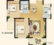 世嘉光织谷2室2厅1卫93平方米户型图
