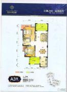 春风紫金港2室2厅1卫84平方米户型图