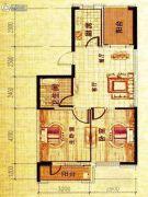 溪城丽景2室2厅1卫79平方米户型图