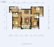 德杰状元府邸3室2厅2卫105平方米户型图