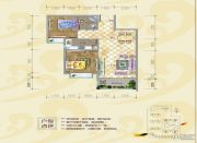 银海富都3室2厅2卫123平方米户型图