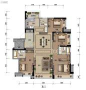 九龙仓时代小镇1号府邸4室2厅2卫144平方米户型图