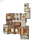 仁恒江湾城4室2厅3卫234平方米户型图