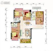 利鑫圣菲康城3室2厅2卫113平方米户型图