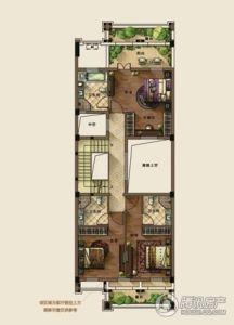 b别墅区 f2户型 二层平面图