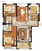 天地源拾锦香都3室2厅2卫124平方米户型图