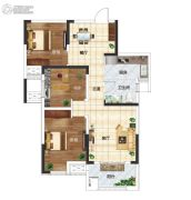 长江国际广场3室2厅1卫94平方米户型图