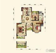 晟鑫康诗丹郡3室2厅2卫130平方米户型图