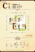 康隆・财富旺角2室2厅1卫81平方米户型图