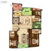 保利达江湾城4室2厅3卫206平方米户型图