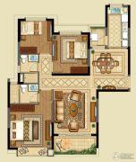 恒大山水城3室2厅2卫120平方米户型图