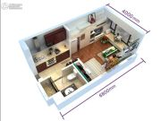 恒大帝景0室0厅0卫35平方米户型图