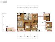 万科城蓝色东方3室2厅1卫89平方米户型图