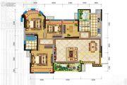 格林城4室2厅2卫115平方米户型图