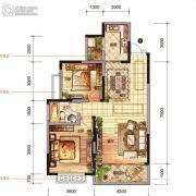 佘湖山・聚泰华府2室2厅1卫92平方米户型图
